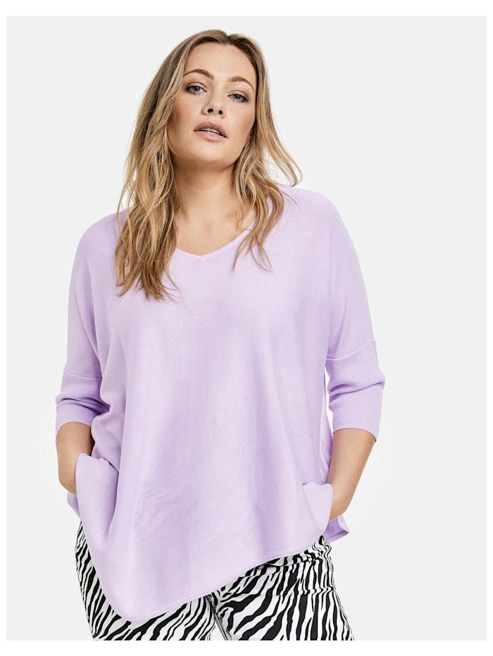 Samoon Oversize-Pullover mit asymmetrischem Saum, Pastel Lilac