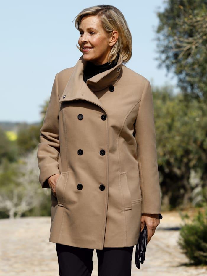m. collection Jacke in Zweireiher- Optik, Camel
