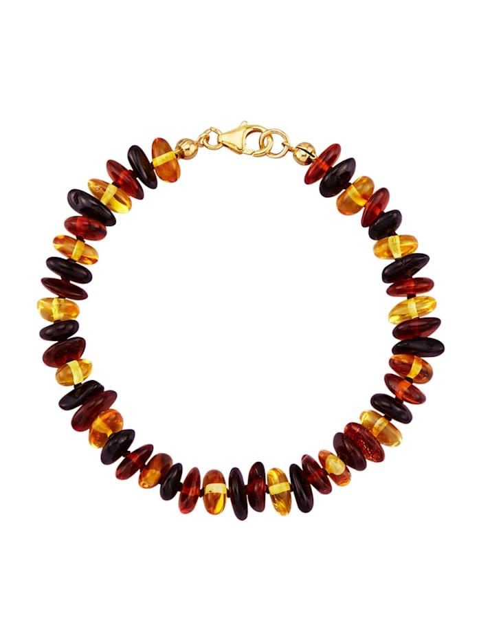 Bracelet à pierres d'ambre, Marron