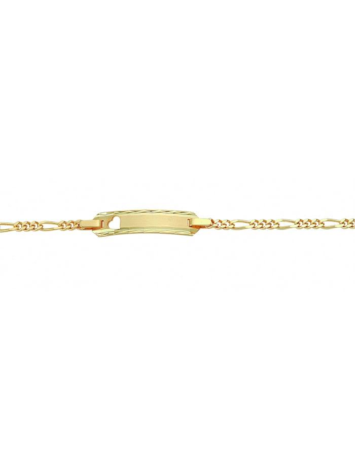 1001 Diamonds Damen Goldschmuck 585 Gold Figaro Armband 16 cm Ø 2,1 mm, gold