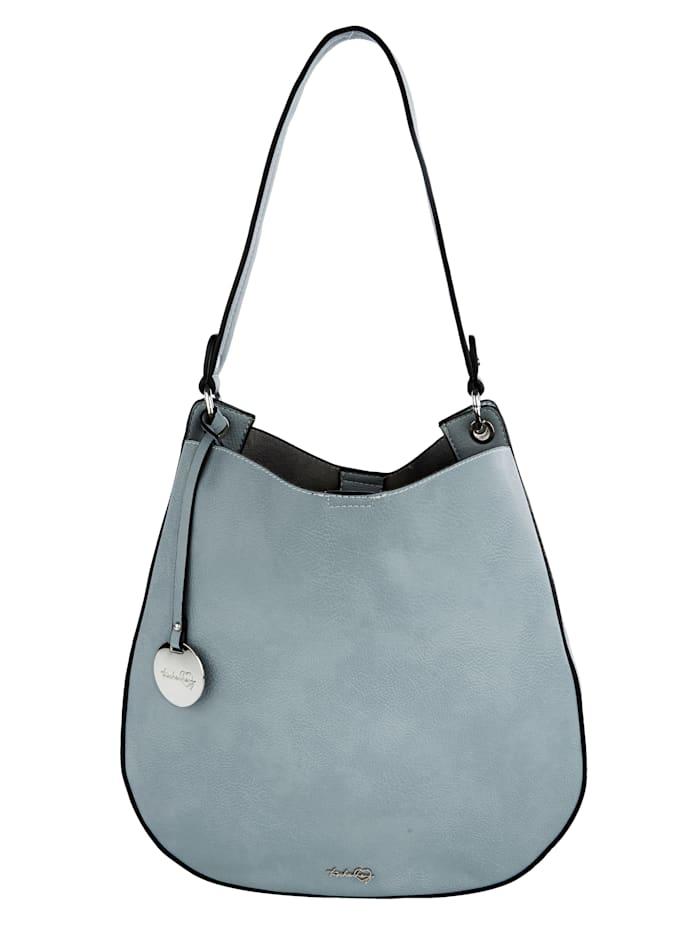 Taschenherz Handbag with a detachable logo pendant 2-piece, Jeans blue