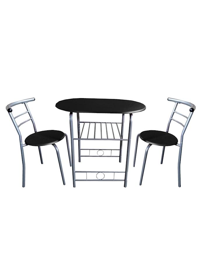 HTI-Line Tischgruppe Merit, Schwarz