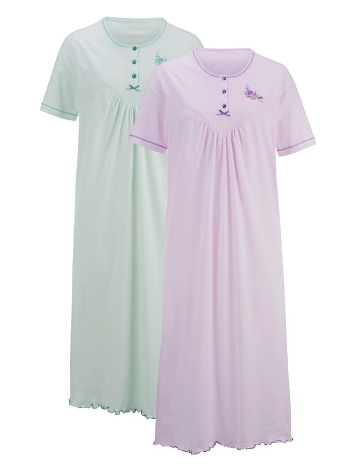 Nachthemd mit floralem Druckmotiv 2er Pack