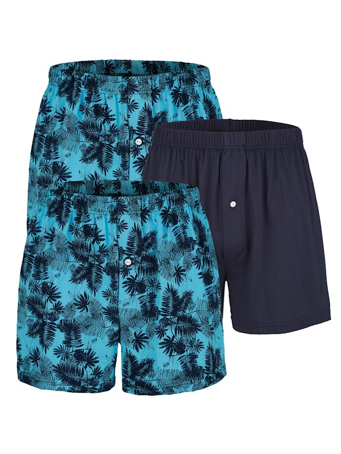 Boxershort, Marine/Turquoise