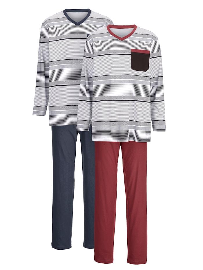 G Gregory Pyjamas, Bordeaux/Marinblå