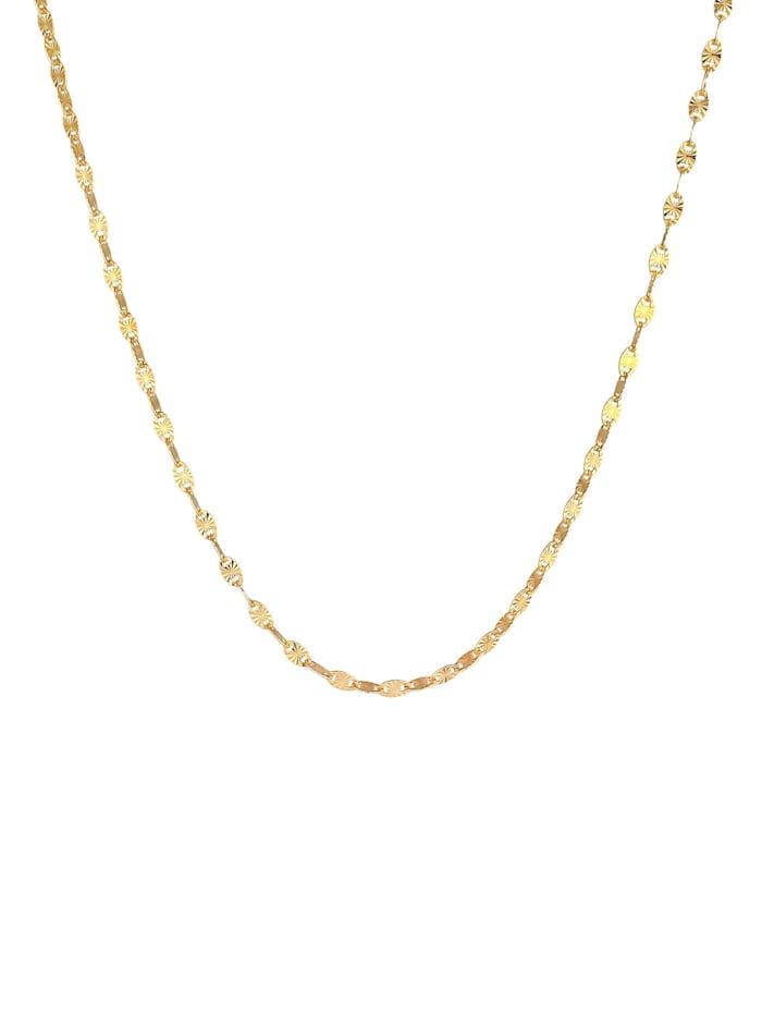 Halskette Stern Look Plättchen Design 925 Sterling Silber