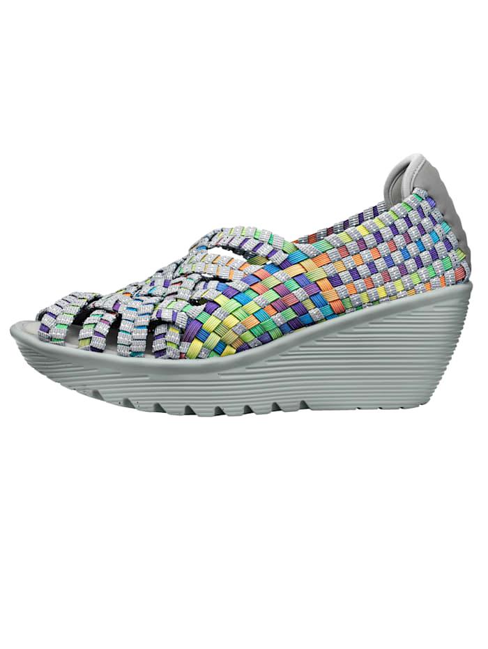Skechers Sandales aspect tressé, Gris/Multicolore