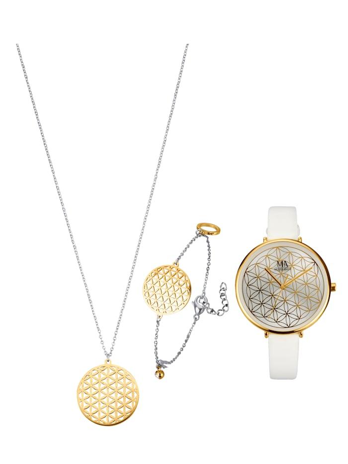 Meister Anker Armbandsur, halsband & armband, Vit