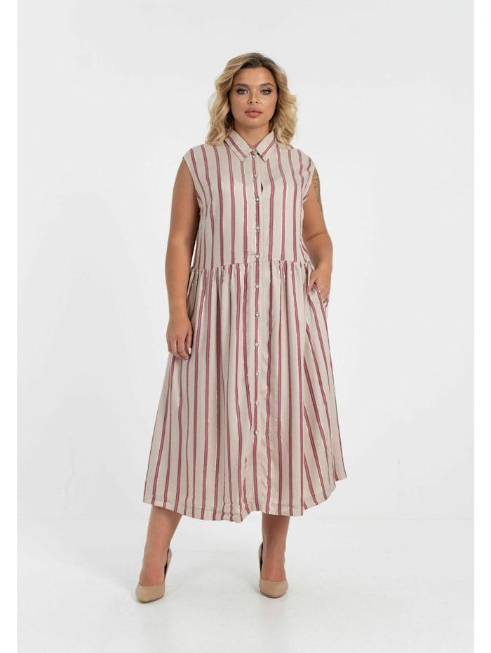 Shirtkleid mit Knöpfen aus 100% Baumwolle