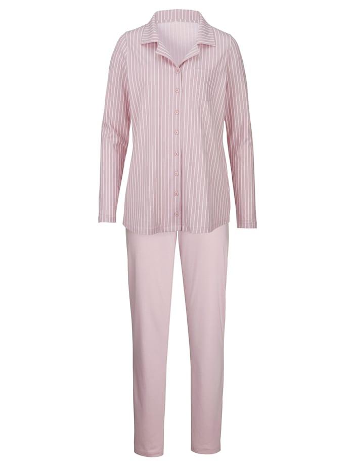 Pyjama in klassieke krijtstreeplook