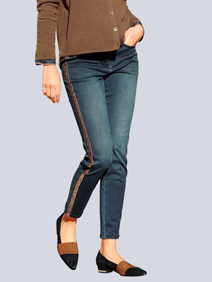 Alba Moda Jeans van comfortabel elastisch materiaal, Dark blue