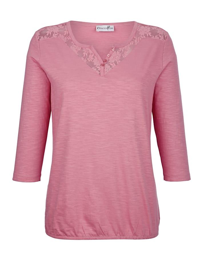 Dress In Shirt aus reiner Baumwolle, Rosé