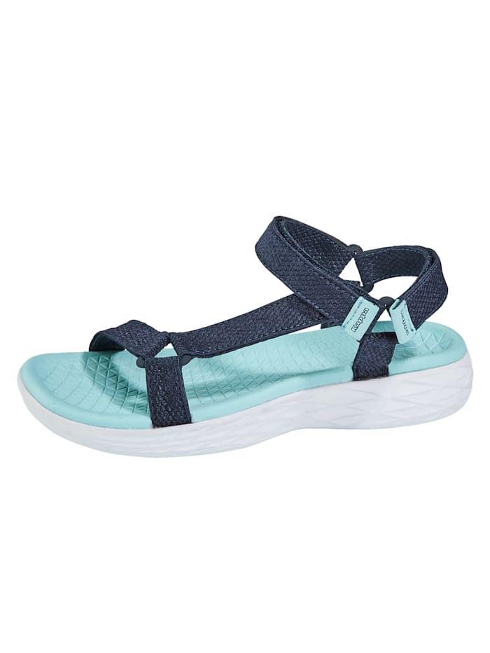 Kappa Sandale mit verstellbarem Klettverschluss, Marineblau/Mintgrün