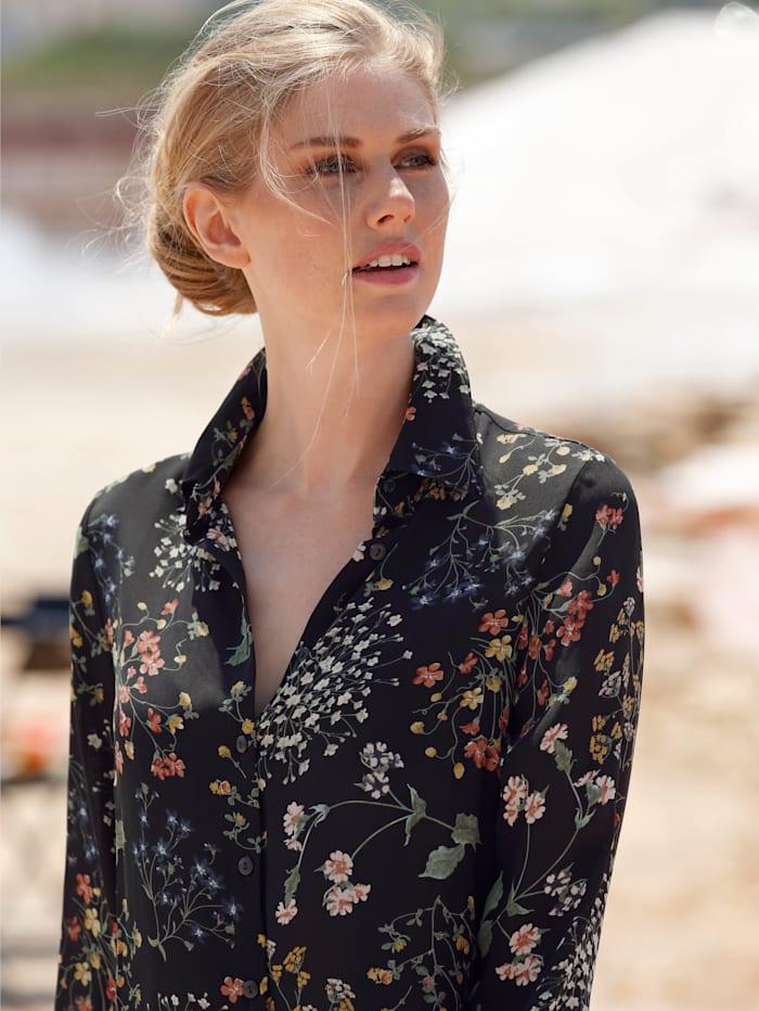 Bluse mit dekorativen Blumendruck