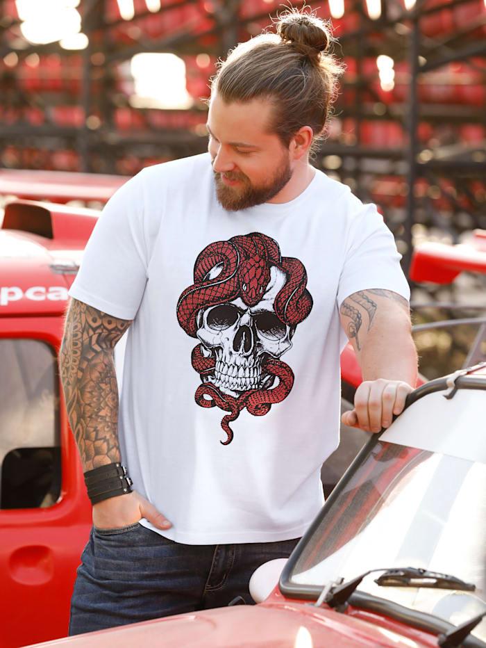 T-Shirt mit Strasssteinzier
