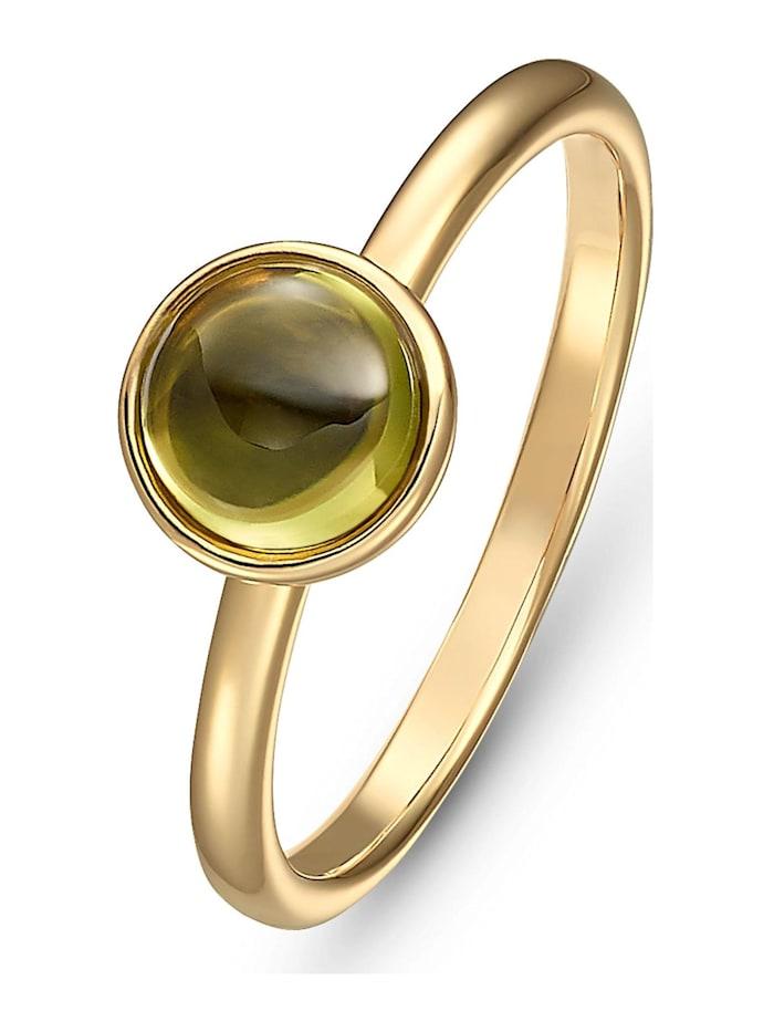 CHRIST GOLD CHRIST Gold Damen-Damenring 375er Gelbgold Peridot, grün
