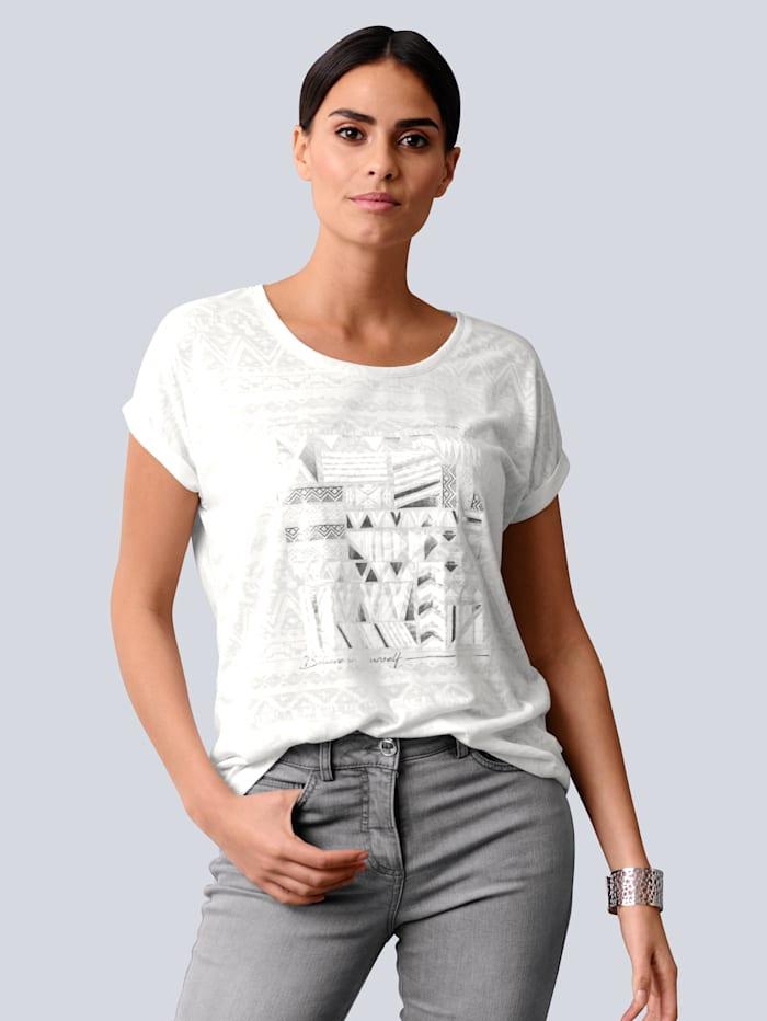 Alba Moda Shirt met exclusieve Alba Moda print, Offwhite
