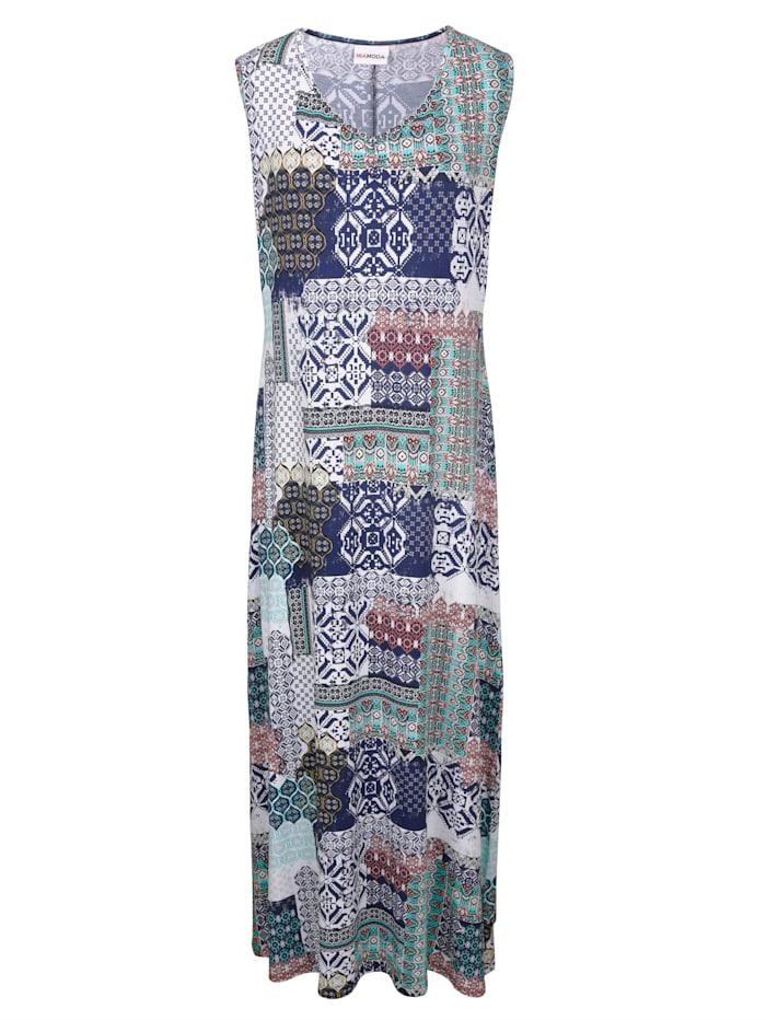 MIAMODA Šaty s módním Patch potiskem, Multicolor