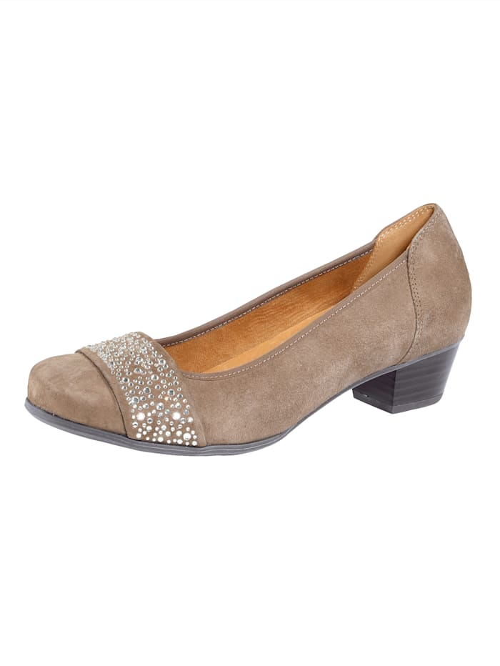 MONA Court shoes, Taupe
