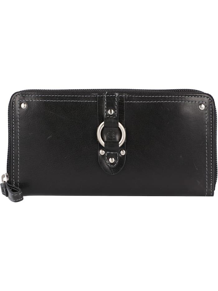 Esquire Denver Geldbörse RFID Leder 19 cm, schwarz