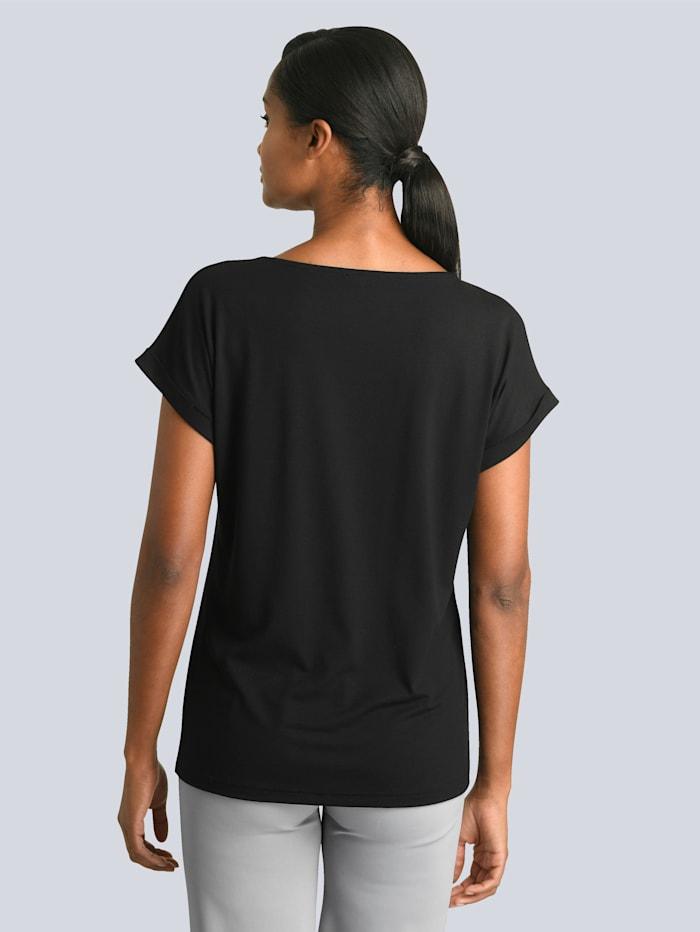 Shirt met paillettenapplicatie voor