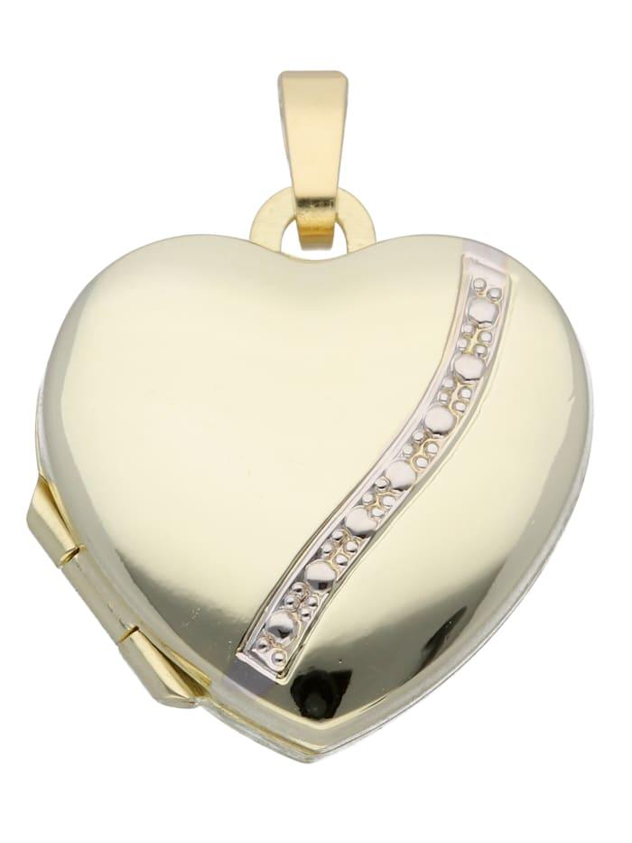 1001 Diamonds 1001 Diamonds Damen Goldschmuck 585 Gold Medaillon Anhänger, gold