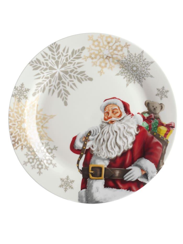 Porzellanservice mit freundlichem Weihnachtsmann