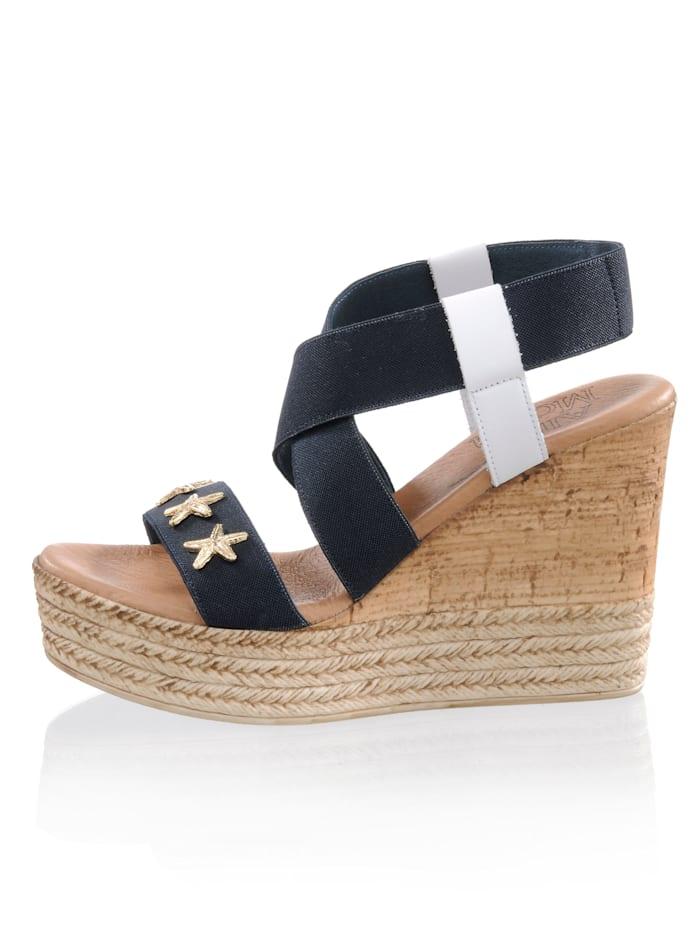 Sandales textile extensible