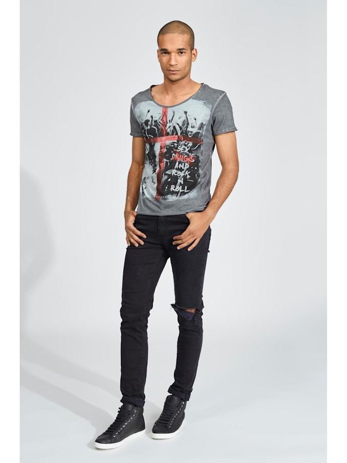 T-Shirt mit lässigem Rock\'n\'Roll-Aufdruck