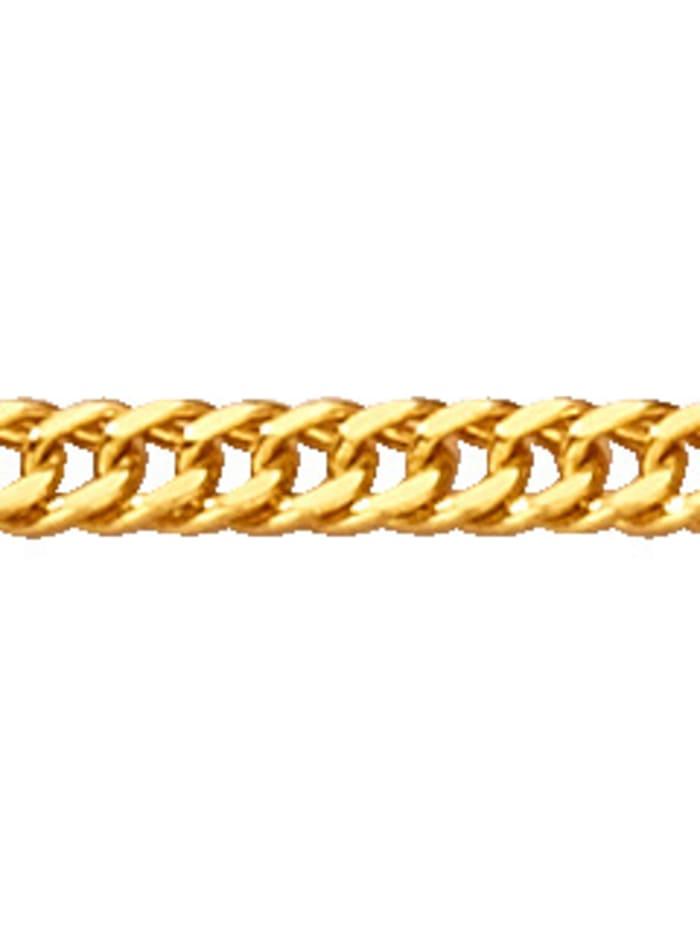 Chaîne maille chenille en or jaune