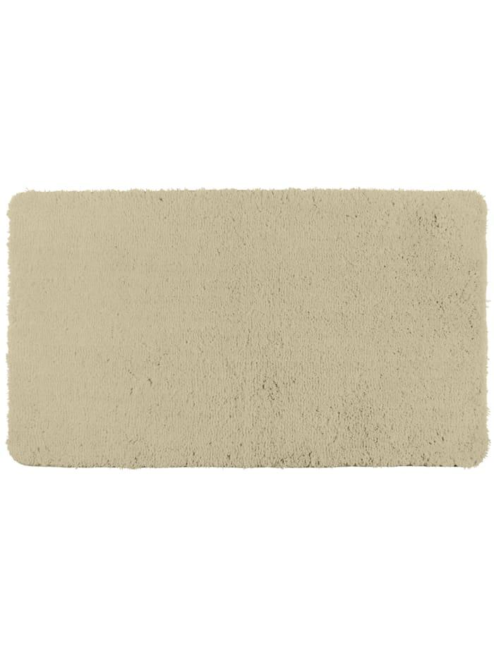 Wenko Badteppich Belize Sand, 55 x 65 cm, Mikrofaser, Polyester/Mikrofaser: Beige