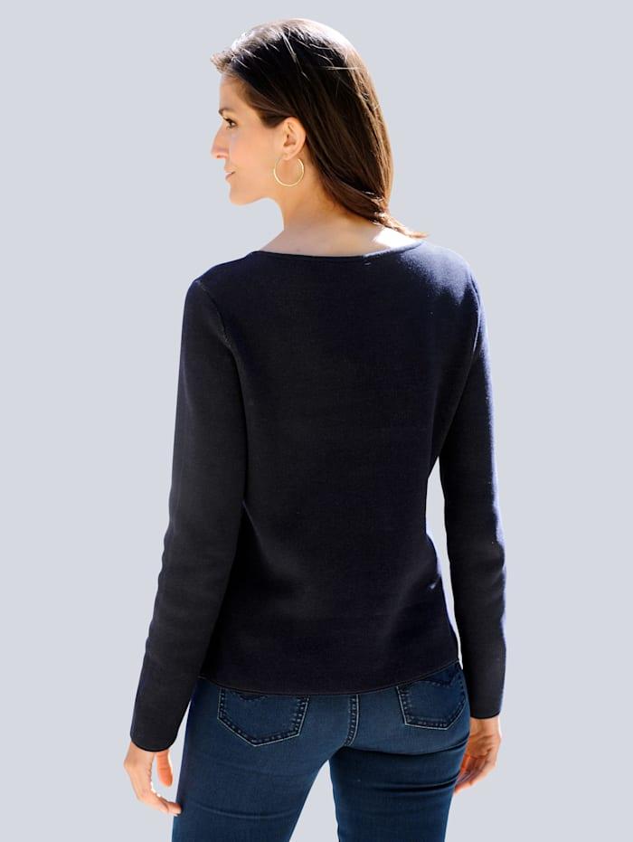 Pullover im exklusiven Doppel-Jacquard Strick