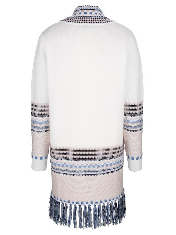 Dlouhý svetr s třásněmi na lemu