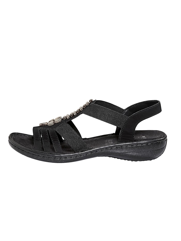 Sandale mit modischer Applikation
