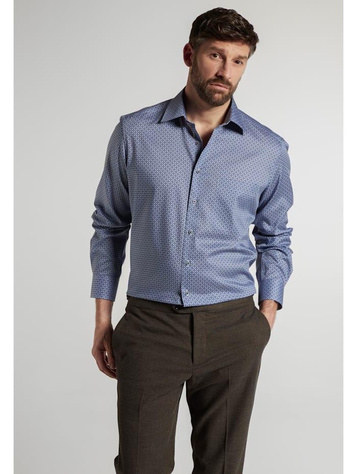 Eterna Eterna Langarm Hemd COMFORT FIT, blau/grau