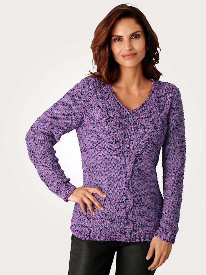 MONA Pullover mit Effektgarn, Lavendel