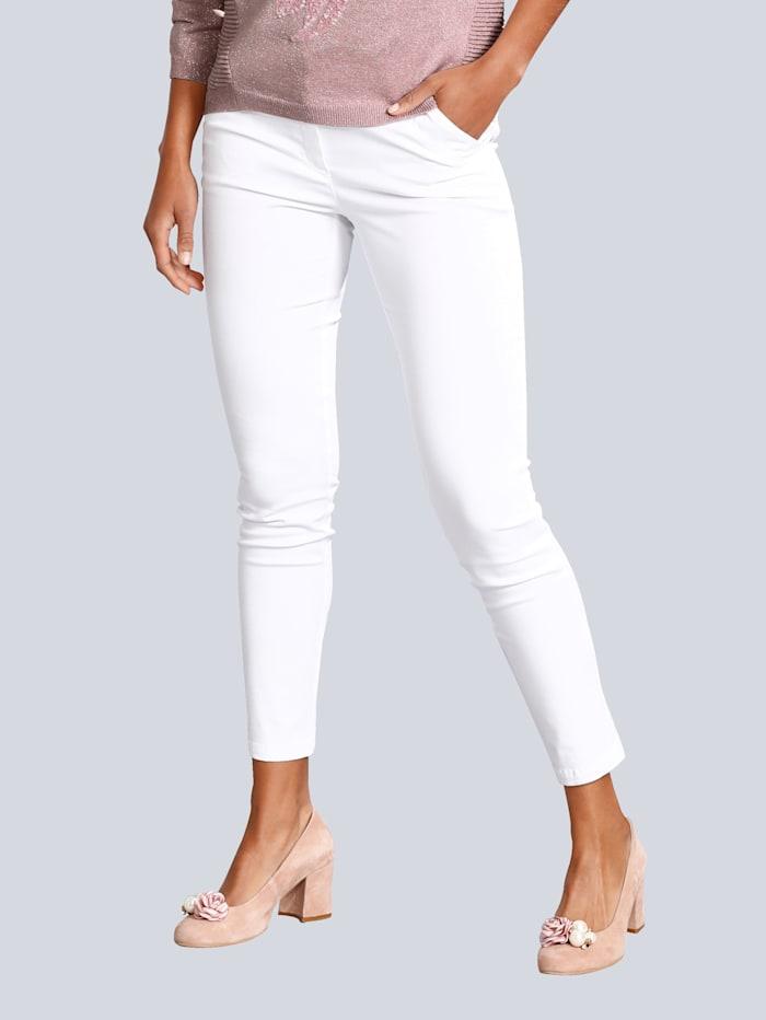 Alba Moda Pantalon de coupe skinny, Blanc