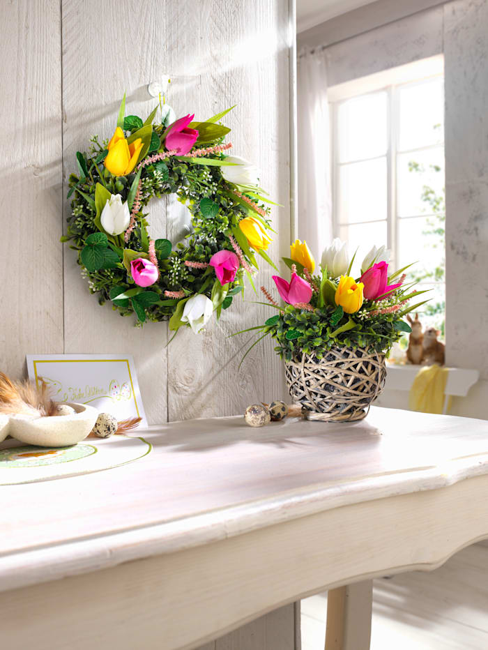 Couronne de tulipes