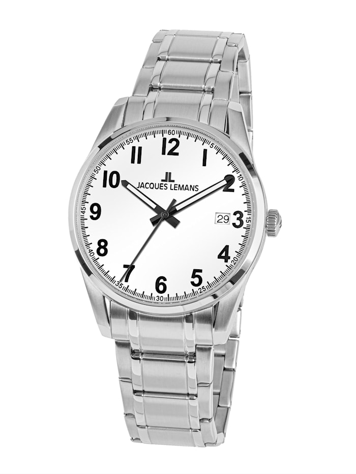 Jacques Lemans Herrenuhr Serie: Liverpool, Kollektion: Sport 1-2070D, Silberfarben