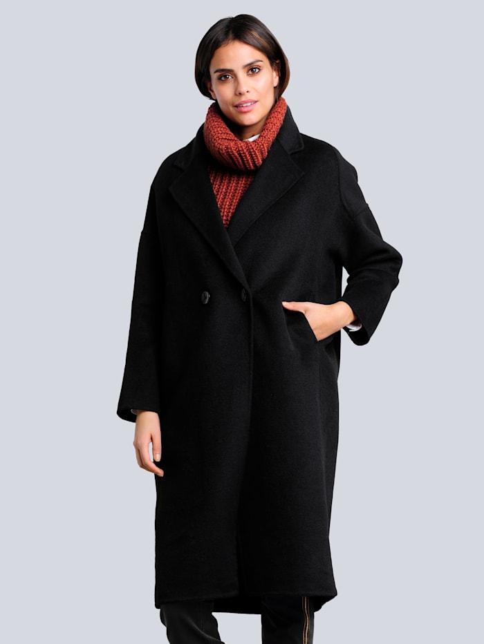 Alba Moda Mantel in klassieke kleuren, Zwart
