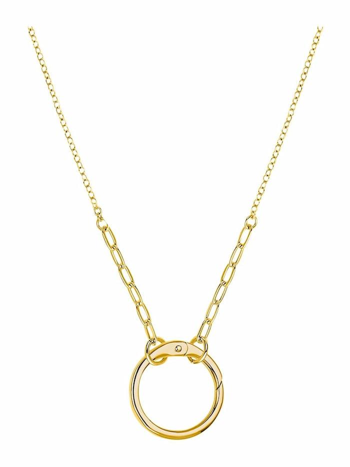 amor GOLDEN RING Kette mit Anhänger für Damen, Sterling Silber 925, Gold