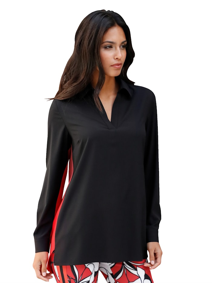 Bluse im modischem Colour-Blocking