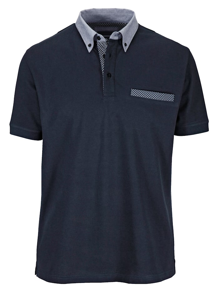 BABISTA Poloshirt mit Hemdkragen, Marineblau