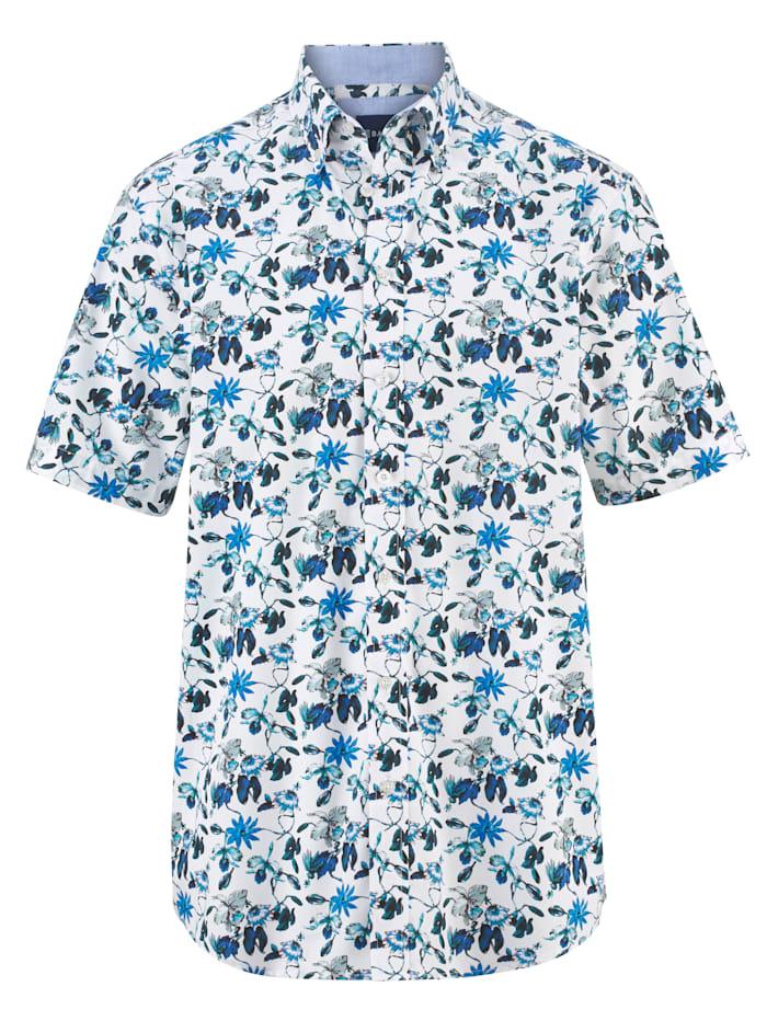BABISTA Overhemd met trendy patroon, Wit/Blauw