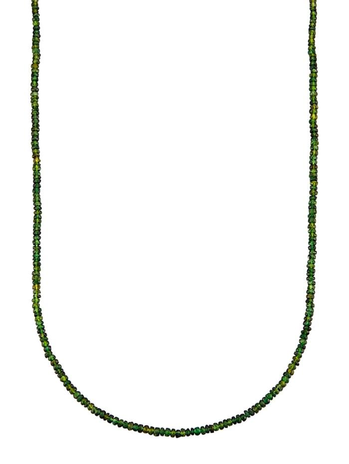 Turmalin-Kette mit Turmalinen, Grün