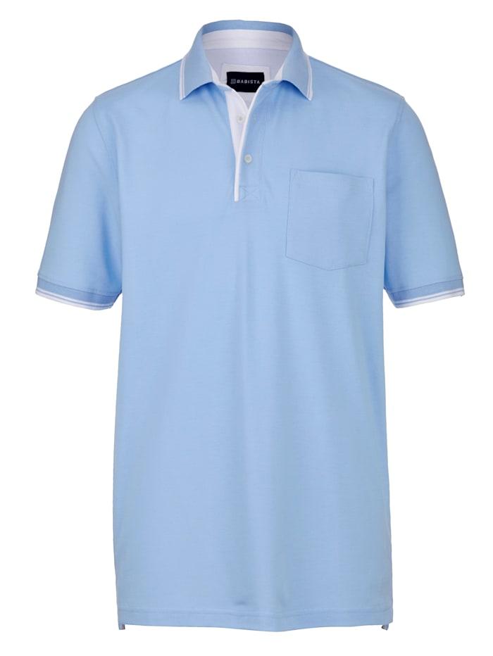 BABISTA Polo à poche poitrine, Bleu ciel