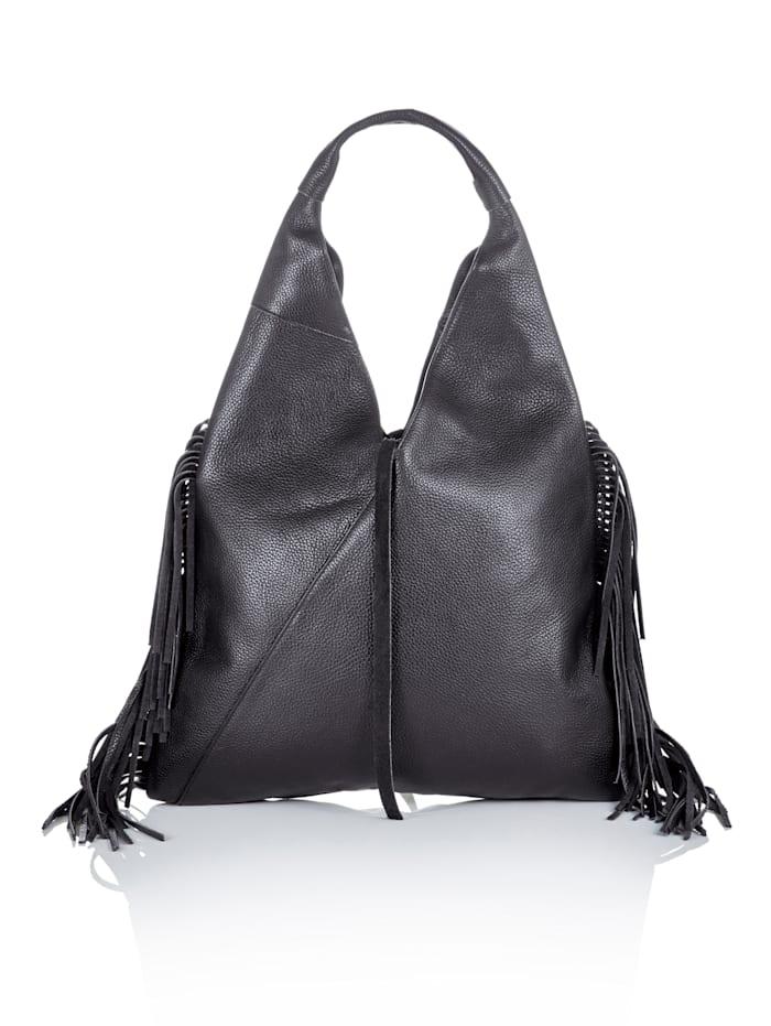 SIENNA Bucket-Bag, Schwarz