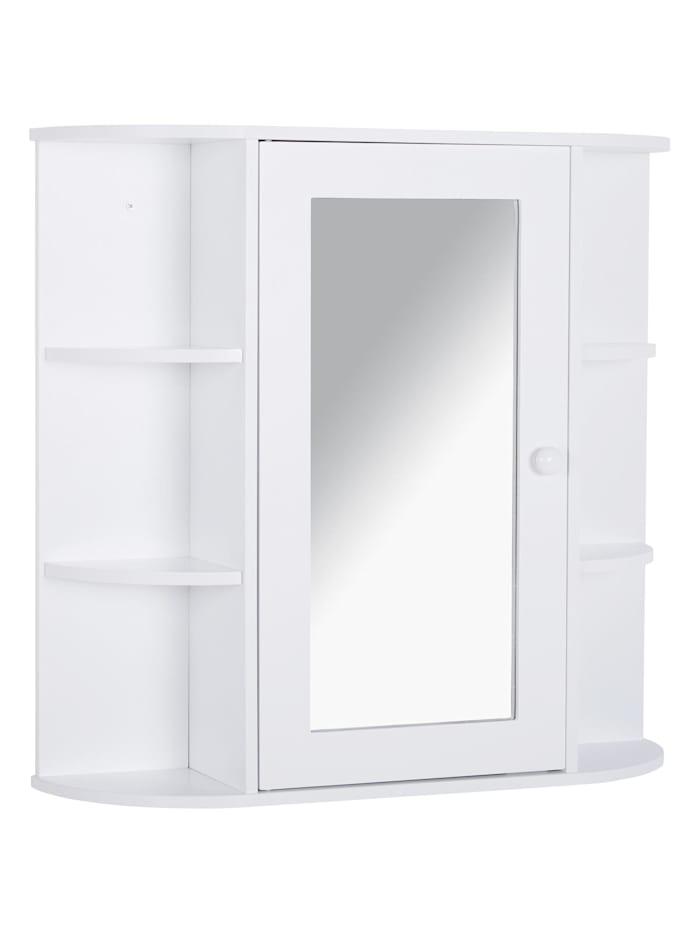 HOMCOM Spiegelschrank, weiß