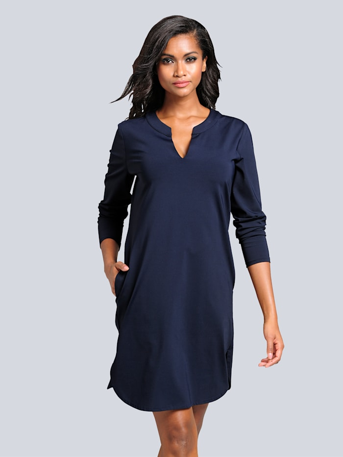 Alba Moda Kleid in äußerst trageangenehmer Jerseyqualität, Marineblau