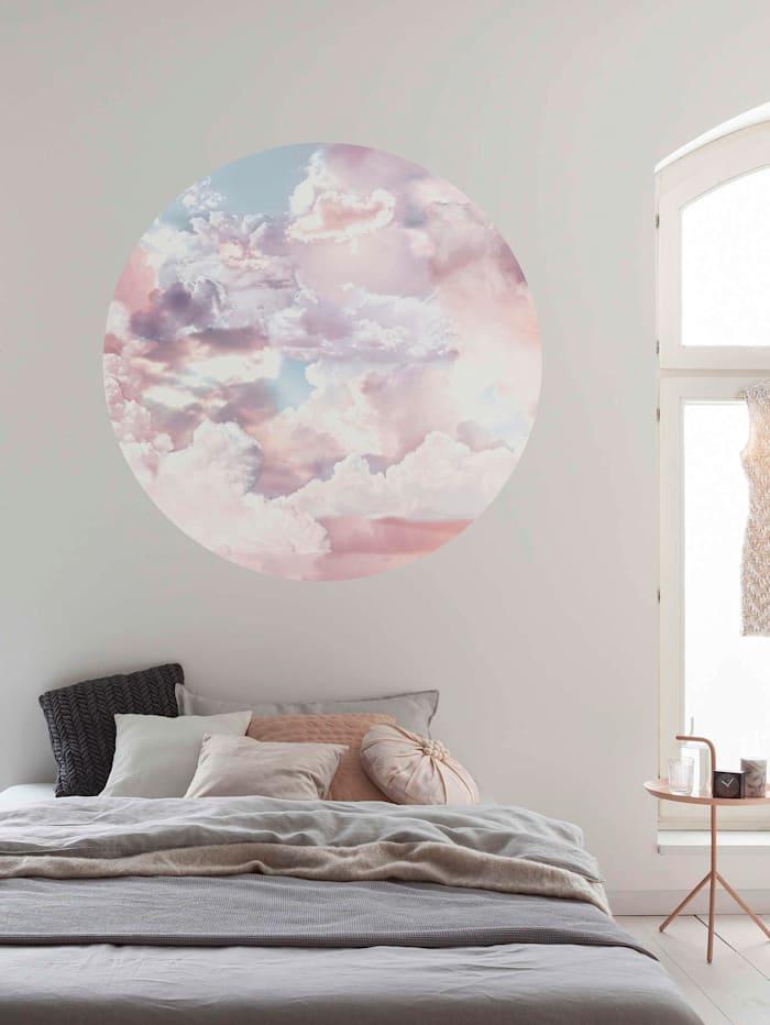 Runde Fototapete, Wolken